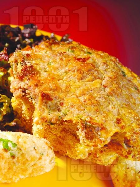 Месни солени кексчета с кайма, гъби и ориз на фурна - снимка на рецептата